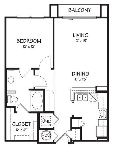 1 Bedroom 1 Bathroom Apartment for rent at The Reserve On Cave Creek in Phoenix, AZ