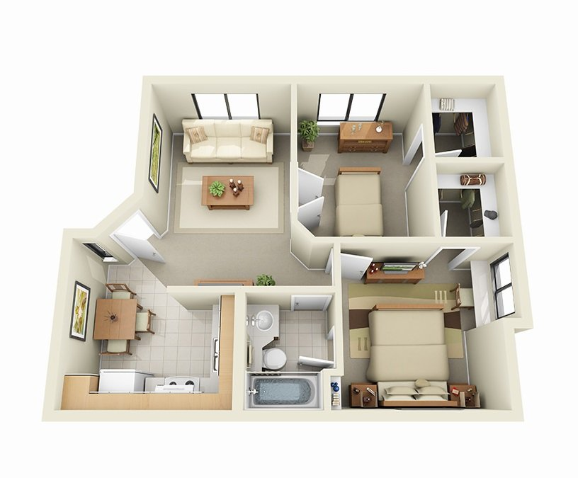 2 Bedrooms 1 Bathroom Apartment for rent at Sky Harbor Apartments in Salt Lake City, UT