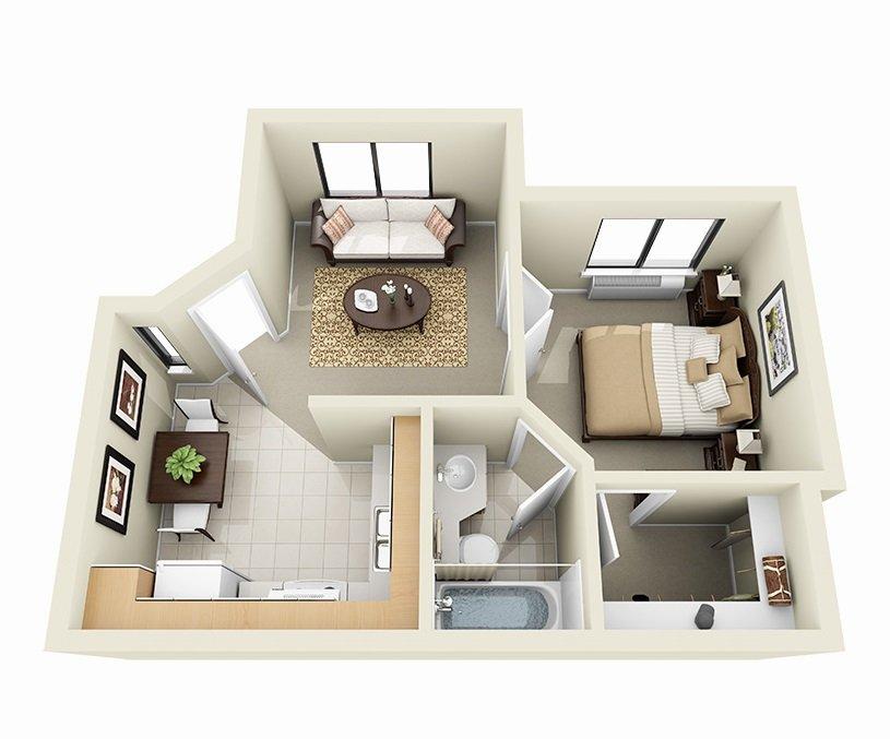 1 Bedroom 1 Bathroom Apartment for rent at Sky Harbor Apartments in Salt Lake City, UT