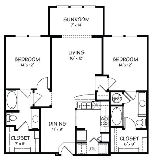 2 Bedrooms 2 Bathrooms Apartment for rent at The Reserve On Cave Creek in Phoenix, AZ