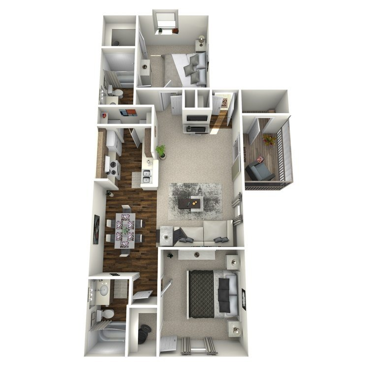 2 Bedrooms 2 Bathrooms Apartment for rent at The Oaks At Lake Jackson in Tallahassee, FL