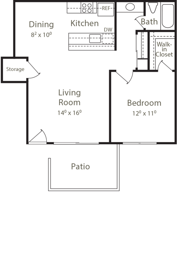 1 Bedroom 1 Bathroom Apartment for rent at Cherrywood in San Jose, CA