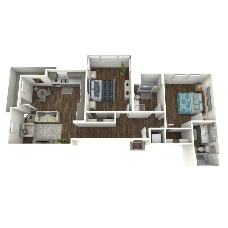 2 Bedrooms 2 Bathrooms Apartment for rent at Amo in San Diego, CA