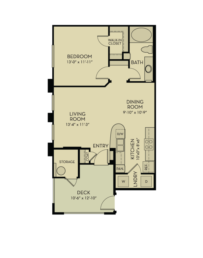 1 Bedroom 1 Bathroom Apartment for rent at Aquatera in San Diego, CA