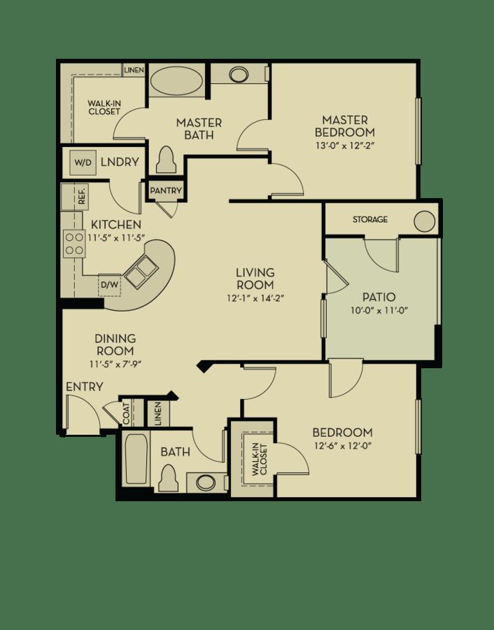 2 Bedrooms 2 Bathrooms Apartment for rent at Aquatera in San Diego, CA