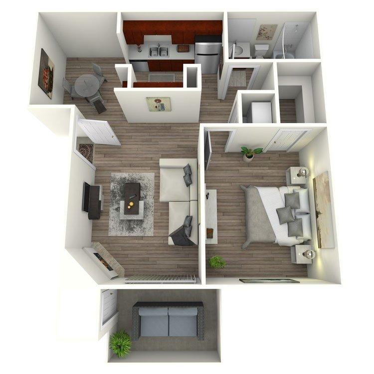 1 Bedroom 1 Bathroom Apartment for rent at El Dorado Hills in San Diego, CA