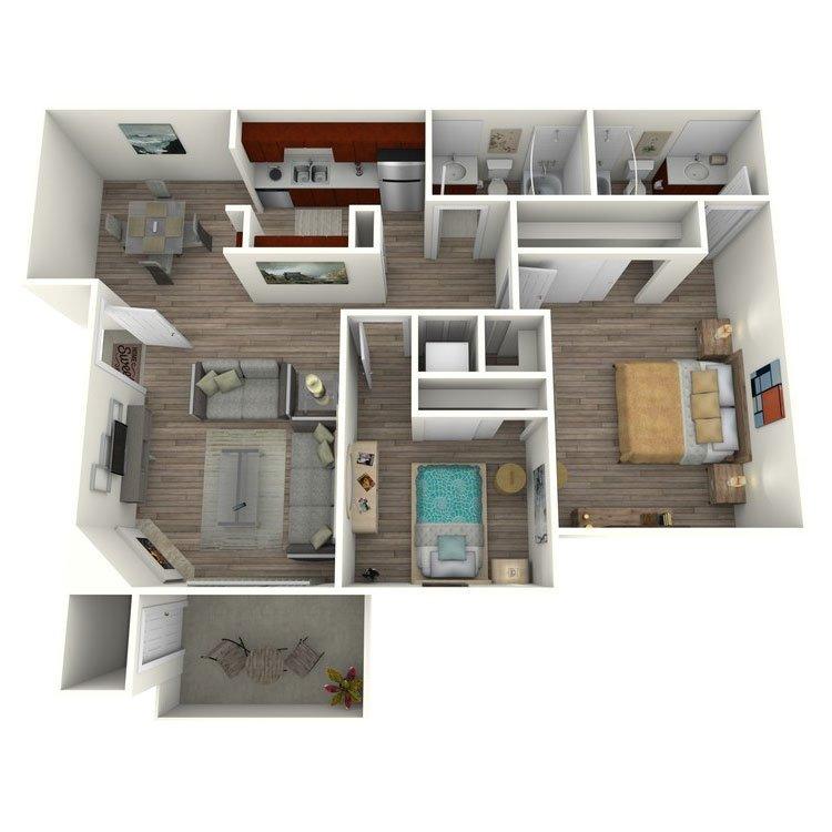 2 Bedrooms 2 Bathrooms Apartment for rent at El Dorado Hills in San Diego, CA