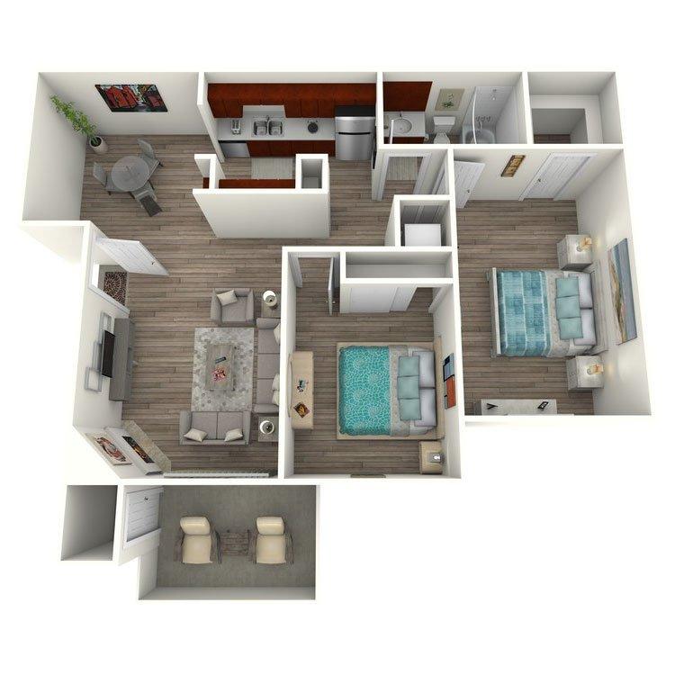 2 Bedrooms 1 Bathroom Apartment for rent at El Dorado Hills in San Diego, CA