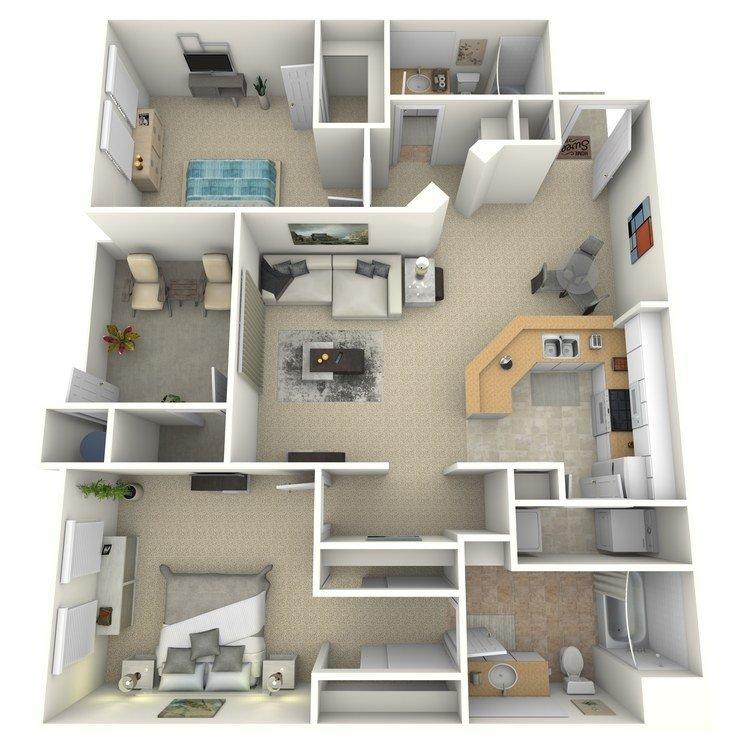2 Bedrooms 2 Bathrooms Apartment for rent at Portofino in San Diego, CA