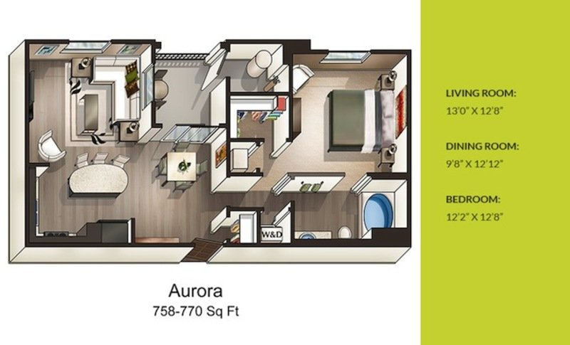 1 Bedroom 1 Bathroom Apartment for rent at Solterra in San Diego, CA