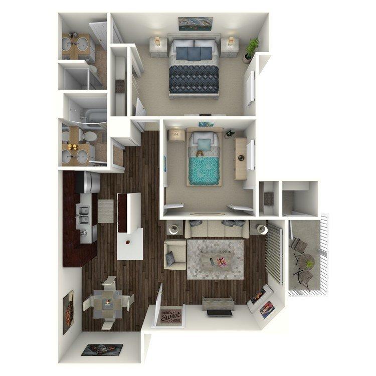 2 Bedrooms 2 Bathrooms Apartment for rent at Tierrasanta Ridge in San Diego, CA