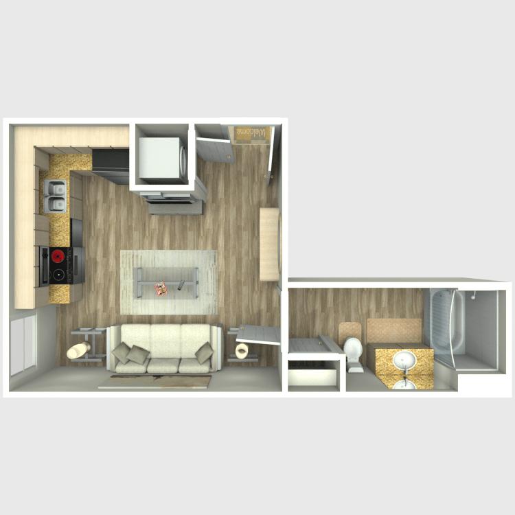 Studio 1 Bathroom Apartment for rent at Amo in San Diego, CA