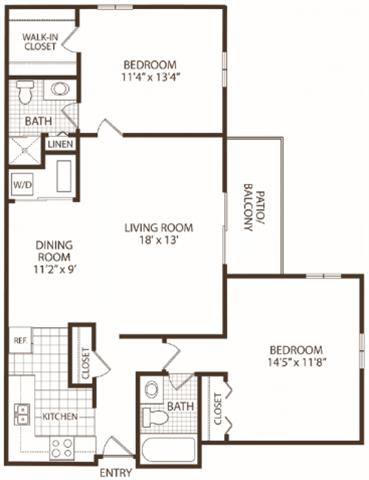 2 Bedrooms 2 Bathrooms Apartment for rent at Hunter's Ridge in Kalamazoo, MI