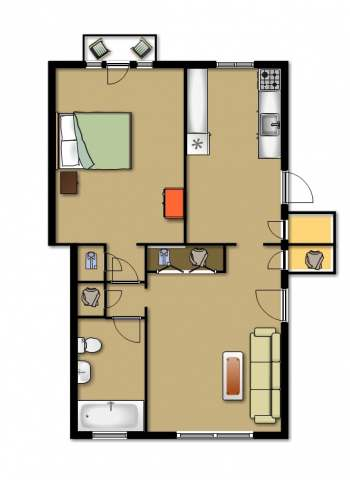 1 Bedroom 1 Bathroom Apartment for rent at 7334-40 Forsyth Blvd. in University City, MO