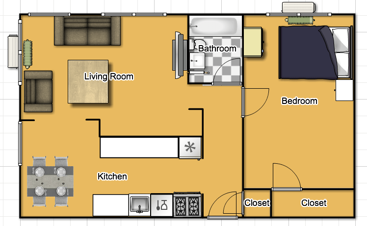 1 Bedroom 1 Bathroom Apartment for rent at 7350 Lindell Blvd. in University City, MO