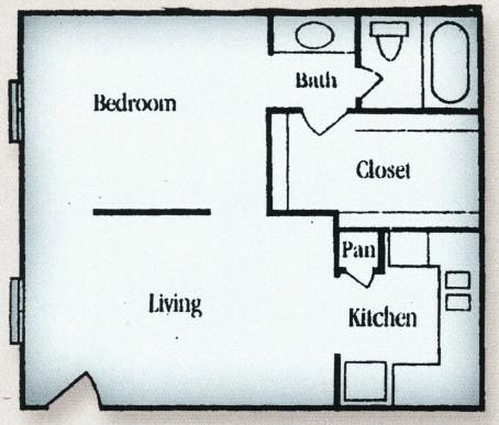 Studio 1 Bathroom Apartment for rent at Tara Oaks in Houston, TX