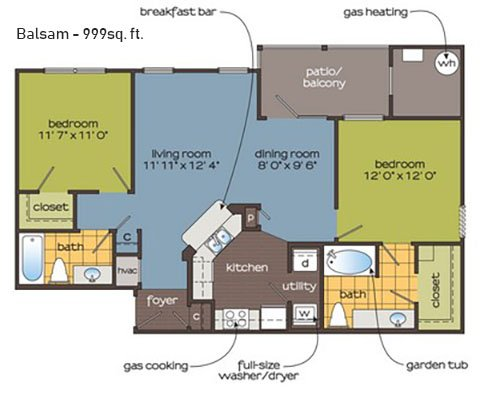 2 Bedrooms 2 Bathrooms Apartment for rent at The Ledges Apartment Homes in Groton, CT