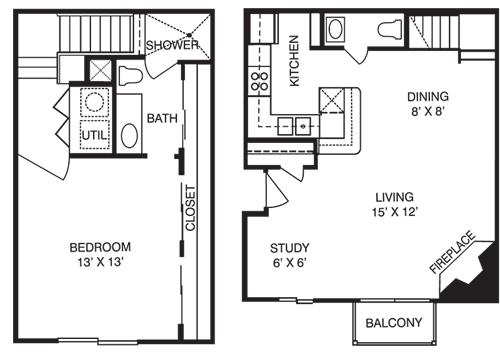 1 Bedroom 2 Bathrooms Apartment for rent at La Costa Villas in Dallas, TX
