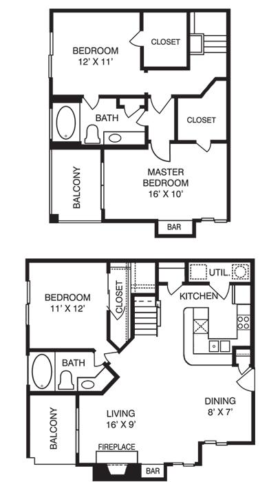 3 Bedrooms 2 Bathrooms Apartment for rent at La Costa Villas in Dallas, TX