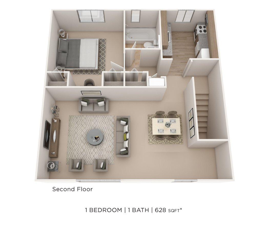 1 Bedroom 1 Bathroom Apartment for rent at Elmwood Village Apartments & Townhomes in Elmwood Park, NJ