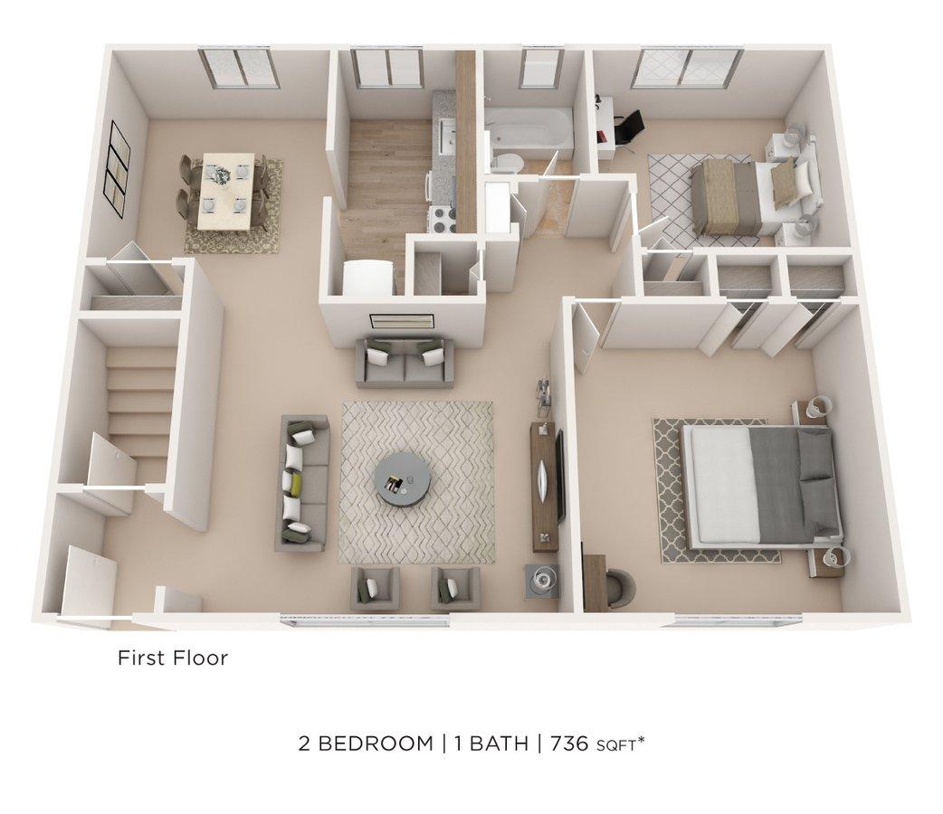 2 Bedrooms 1 Bathroom Apartment for rent at Elmwood Village Apartments & Townhomes in Elmwood Park, NJ