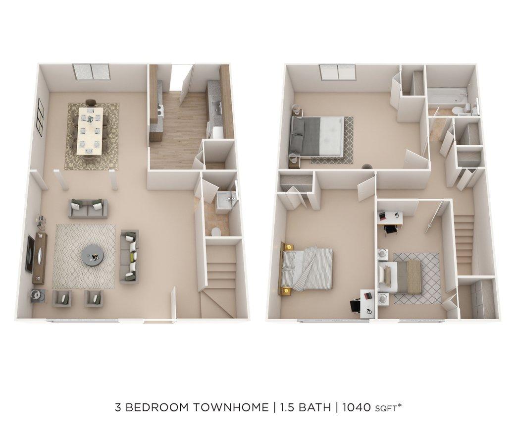 3 Bedrooms 1 Bathroom Apartment for rent at Elmwood Village Apartments & Townhomes in Elmwood Park, NJ