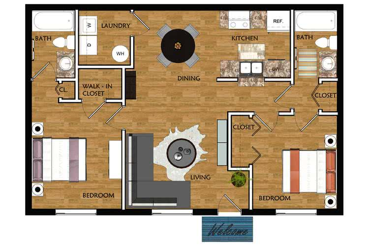 2 Bedrooms 2 Bathrooms Apartment for rent at Ridgemar Commons in Gainesville, FL