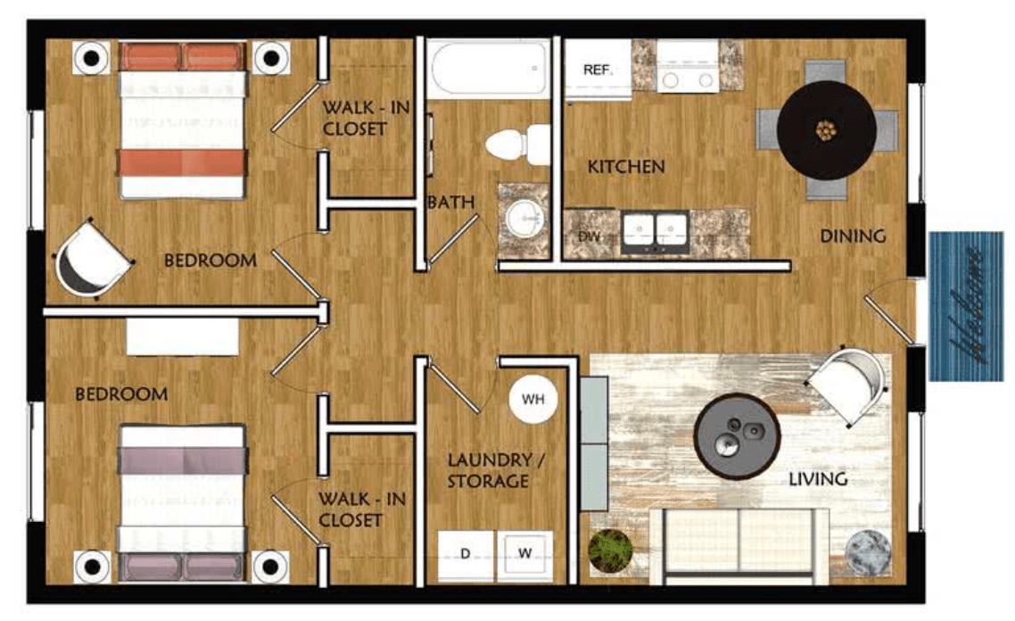 2 Bedrooms 1 Bathroom Apartment for rent at Ridgemar Commons in Gainesville, FL