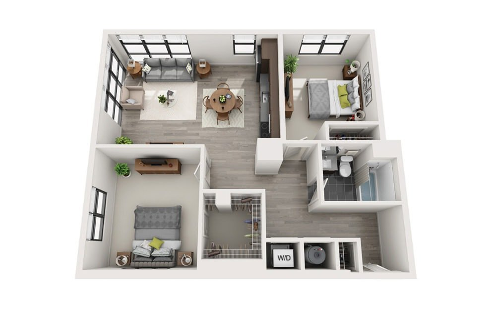 2 Bedrooms 1 Bathroom Apartment for rent at E3 - Edge in Boston, MA