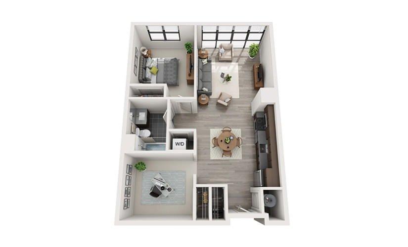 1 Bedroom 1 Bathroom Apartment for rent at E3 - Edge in Boston, MA