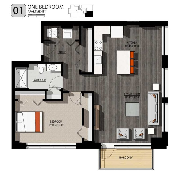 1 Bedroom 1 Bathroom Apartment for rent at 213 Broadway Lofts in Milwaukee, WI