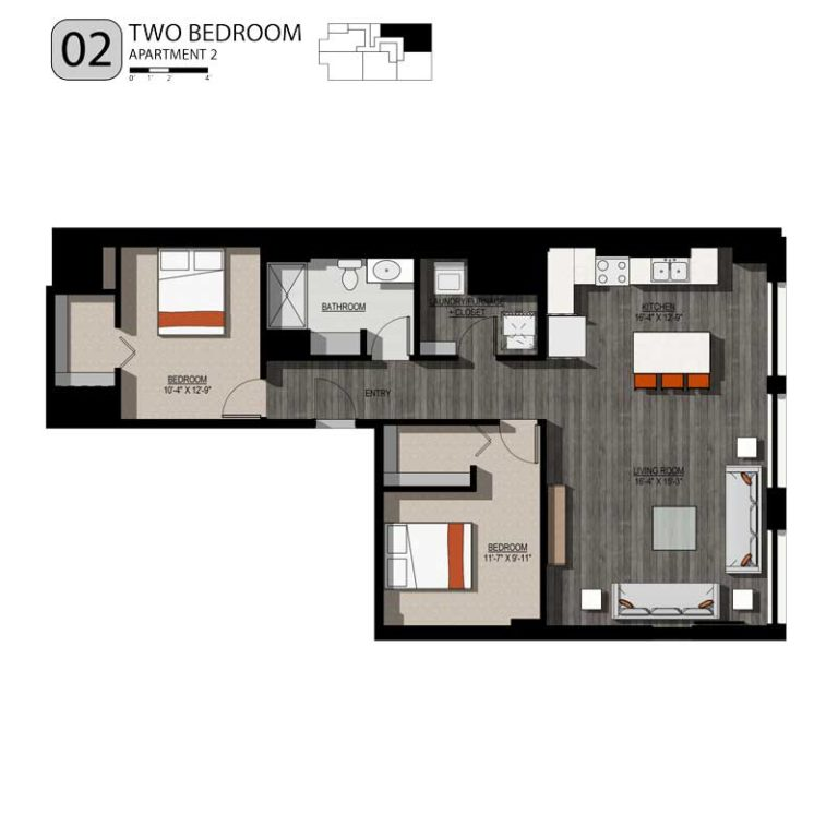 2 Bedrooms 1 Bathroom Apartment for rent at 213 Broadway Lofts in Milwaukee, WI