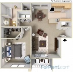 1 Bedroom 1 Bathroom Apartment for rent at The Orchards At Cherry Creek Apartments in Centennial, CO