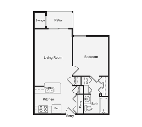 1 Bedroom 1 Bathroom Apartment for rent at Pine Hills Apartments in Raleigh, NC