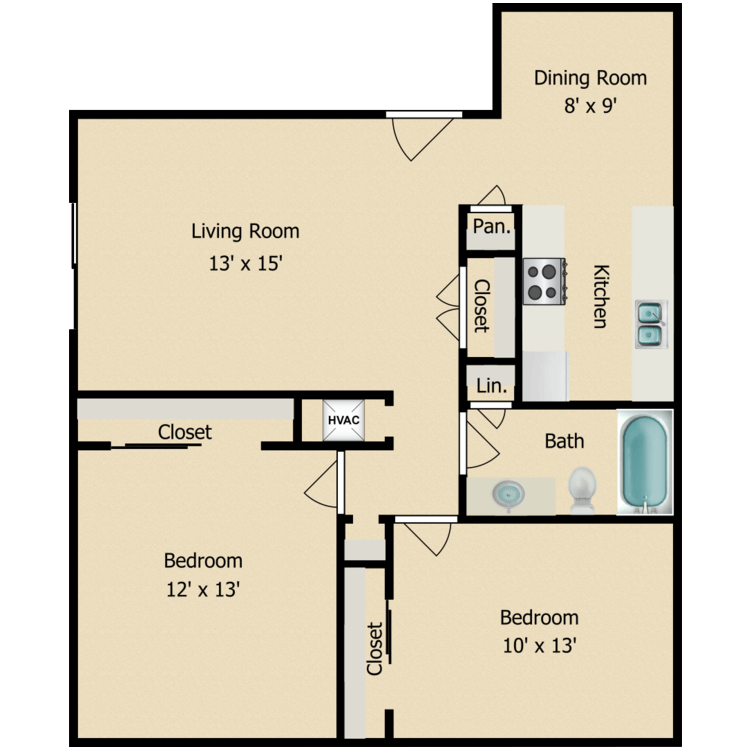 2 Bedrooms 1 Bathroom Apartment for rent at North Star On Blanco in San Antonio, TX