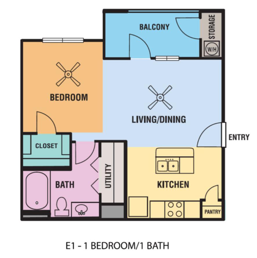 Studio 1 Bathroom Apartment for rent at Alsbury Farms in San Antonio, TX