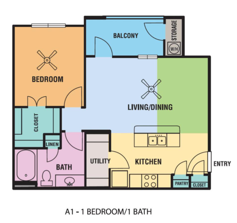1 Bedroom 1 Bathroom Apartment for rent at Alsbury Farms in San Antonio, TX