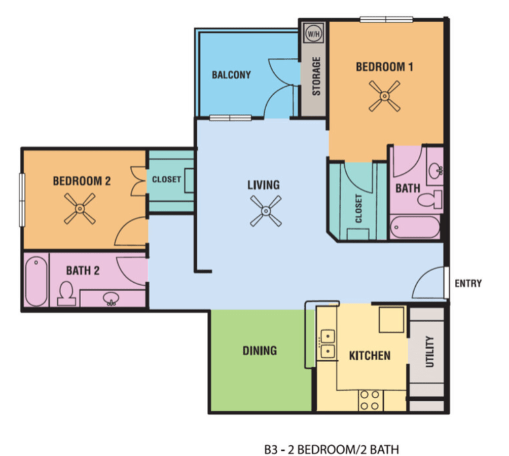 2 Bedrooms 2 Bathrooms Apartment for rent at Alsbury Farms in San Antonio, TX