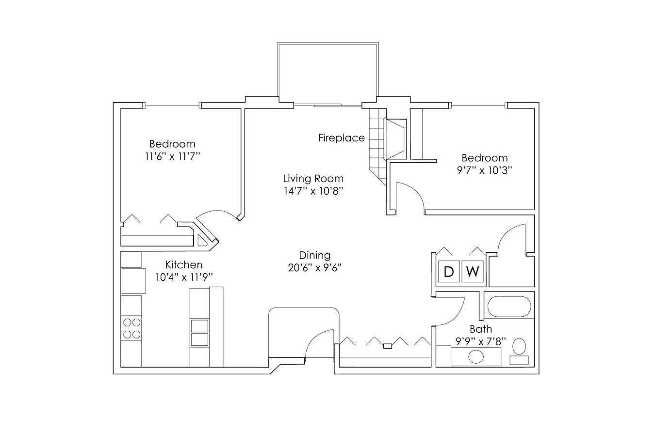 2 Bedrooms 1 Bathroom Apartment for rent at Grand Gateway Apartment Homes in St Cloud, MN