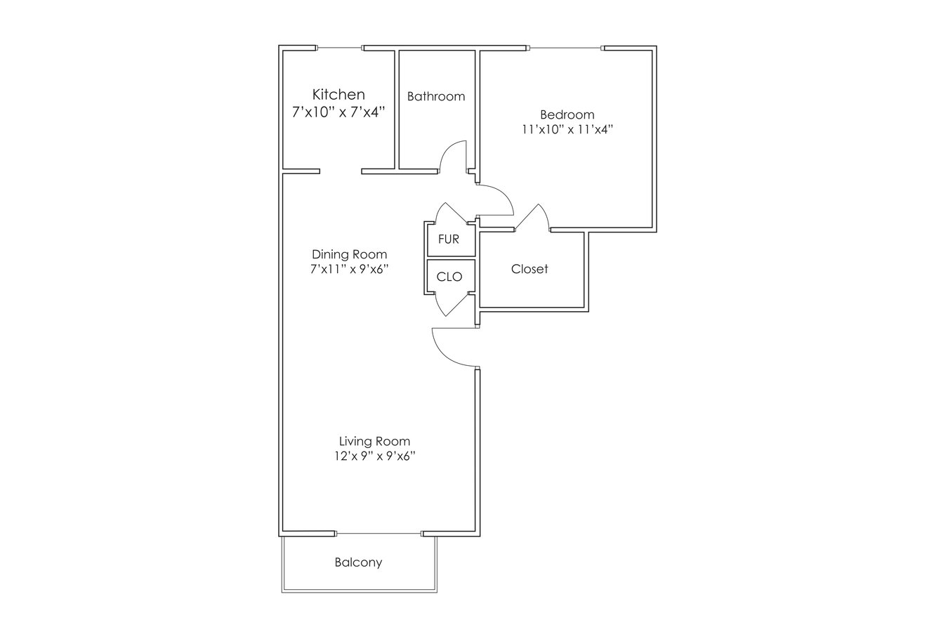 1 Bedroom 1 Bathroom Apartment for rent at Cimarron Hills Apartments in Omaha, NE
