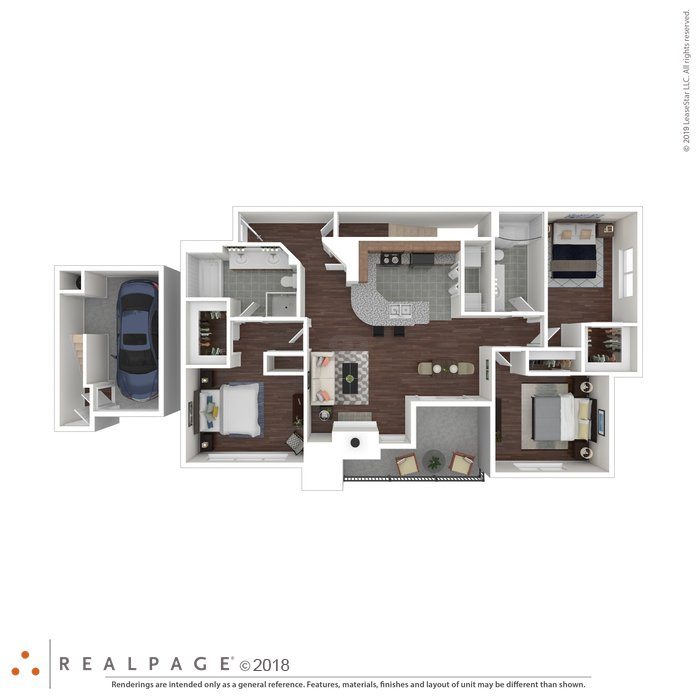 3 Bedrooms 2 Bathrooms Apartment for rent at Oakville in Austin, TX