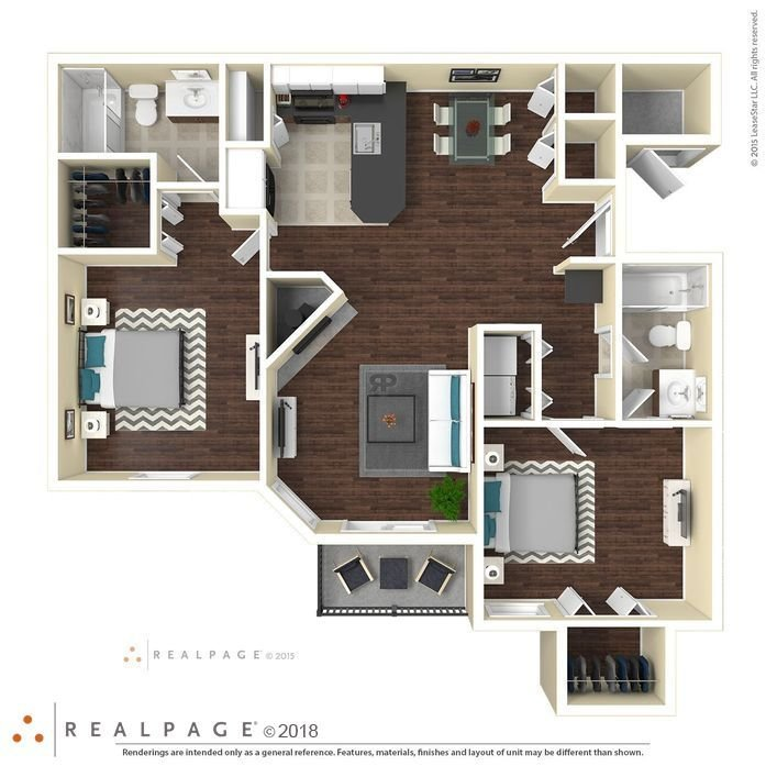 2 Bedrooms 2 Bathrooms Apartment for rent at Milan in Austin, TX