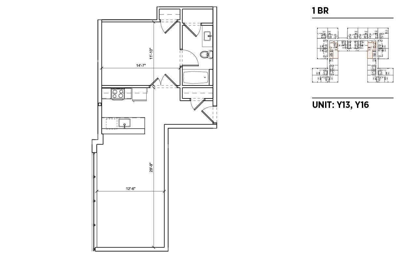 1 Bedroom 1 Bathroom Apartment for rent at 2040 Market in Philadelphia, PA
