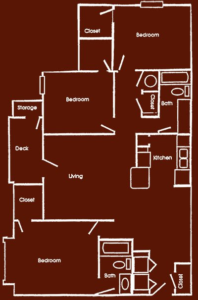 3 Bedrooms 2 Bathrooms Apartment for rent at The Hill in Columbia, MO