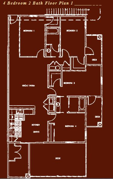 4 Bedrooms 2 Bathrooms Apartment for rent at Swan Lake Apartments in Columbia, MO
