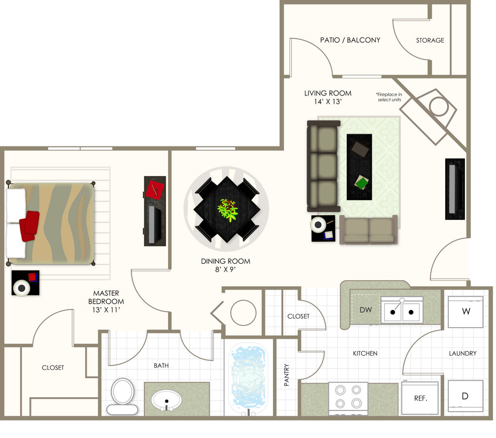1 Bedroom 1 Bathroom Apartment for rent at Summerwood On Towne Line in Indianapolis, IN
