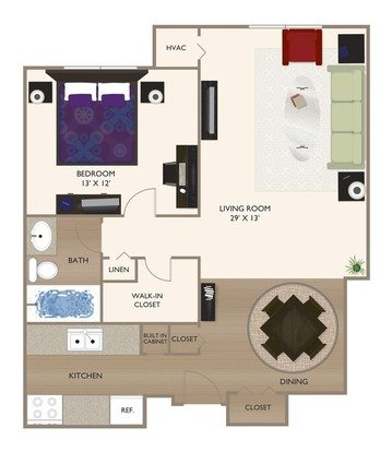 1 Bedroom 1 Bathroom Apartment for rent at Grandin House Apartments in Cincinnati, OH