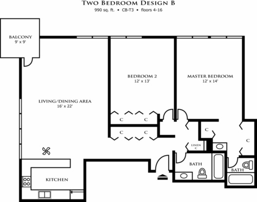 2 Bedrooms 2 Bathrooms Apartment for rent at Riley Towers in Indianapolis, IN