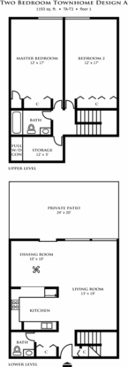 2 Bedrooms 3 Bathrooms Apartment for rent at Riley Towers in Indianapolis, IN