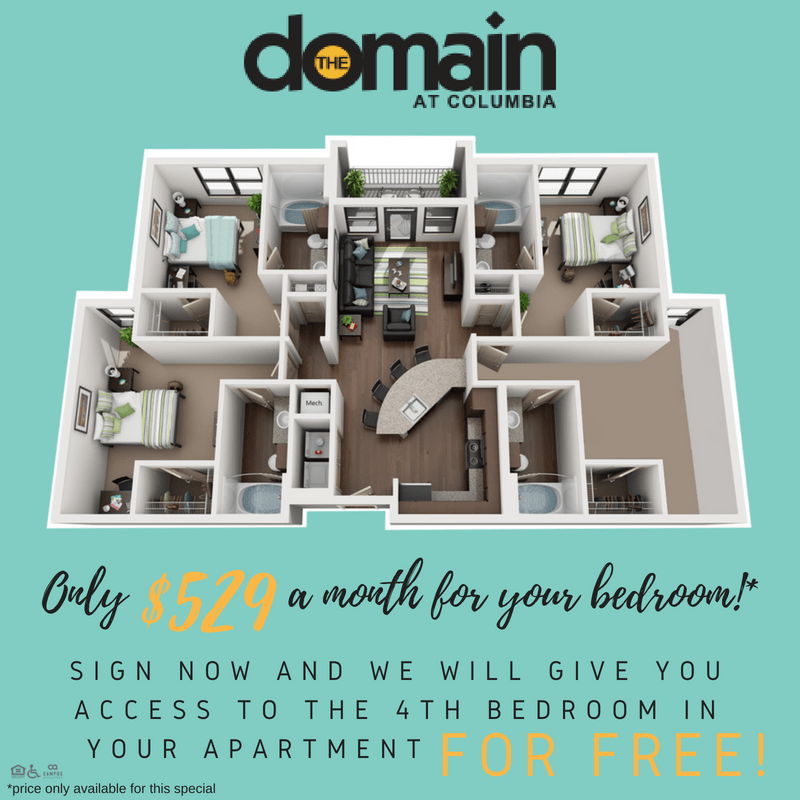 3 Bedrooms 3 Bathrooms Apartment for rent at Domain At Columbia in Columbia, MO